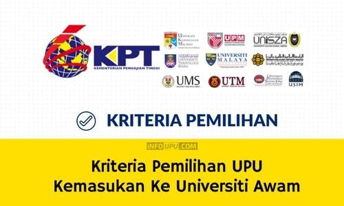Kriteria Pemilihan UPU