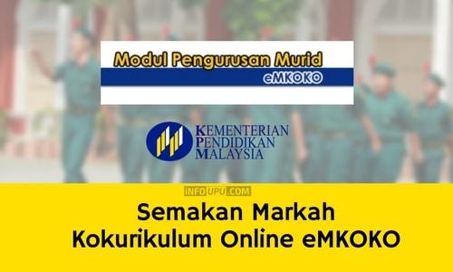 Semakan Markah Kokurikulum Online Emkoko Info Upu