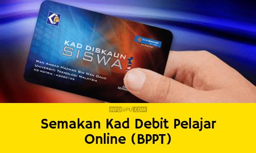 Semakan Kads1m Kad Debit Pelajar Online Bppt Info Upu
