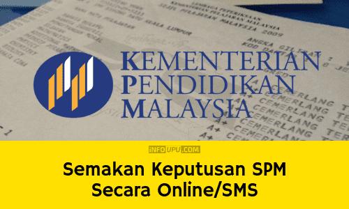 Semakan Keputusan Spm 2020 Secara Online Sms Info Upu