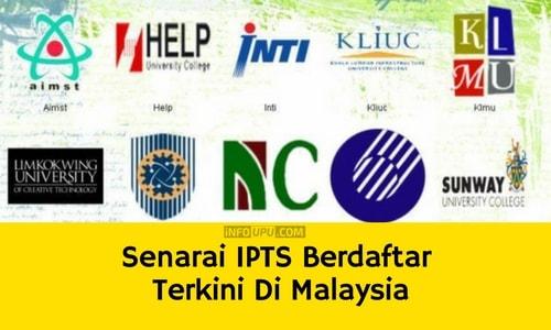 Gagal permohonan UPU - Senarai IPTS Berdaftar Terkini Di Malaysia (Nama Dan Alamat)