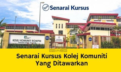 Senarai Kursus Kolej Komuniti Yang Ditawarkan Seluruh Malaysia