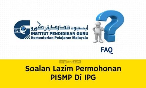 Soalan Lazim Permohonan PISMP