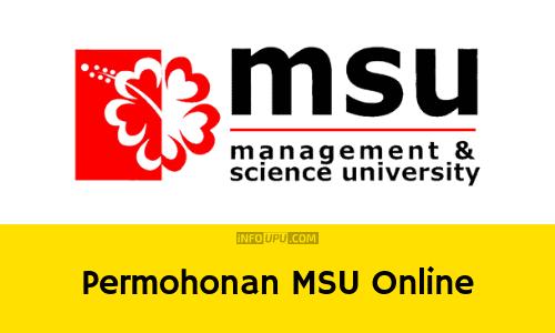Permohonan MSU online (Management and Science University)