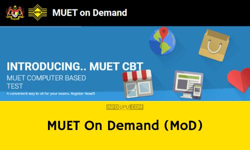 pendaftaran MUET on Demand